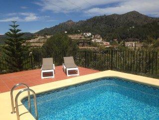 Ferienhaus nahe Pego fur 6 Pers. mit phantastischem Blick und eigenem 8x4m Pool