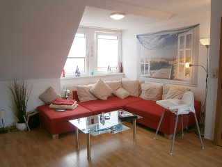 Family friendly bright apartment *** center 450 mtr. to the beach