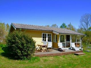 TOP-Ferienhaus bei Laholm/Mellbystrand mit Sonnenterrasse, Kamin + Wintergarten