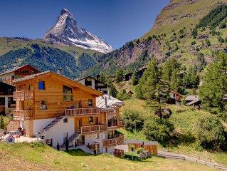 Helle Duplexwohnung mit Sauna in tollem Bergpanorama und Matterhornsicht