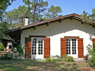 In the heart of Cap Ferret, for 6 persons, close