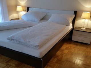 Cozy, newly renovated ground floor apartment is for rent.