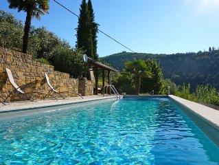 Excl. Natursteinvilla,10 m Pool,Sauna,malerische Lage,WiFi, 20 Min vom Meer