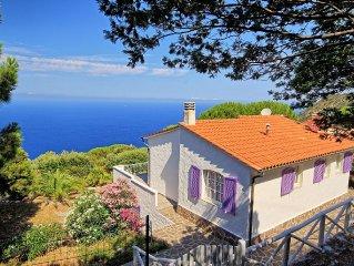Ferienvilla Elba in zauberhafter Panoramalage ueber dem Meer