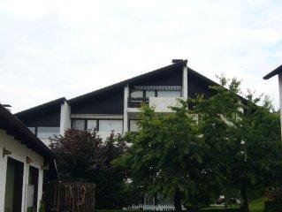 56 qm Wohnung für bis zu 4 Personen. Balkon,Kamin,TV,Haustiere auf Anfr.