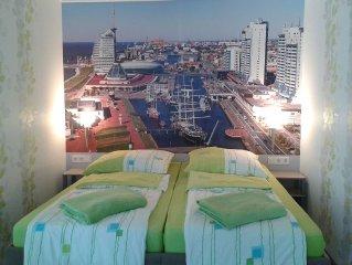 Ideale Citylage, luxuriöses Appartement...Schlafen im Hafen
