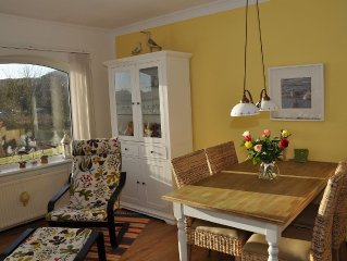 Komfortwohnung mit Terrasse, direkt hinter den Dunen, nur 7 Minuten zum Strand