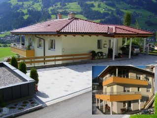 Family friendly apartment with garden / grill, infrared cabin, sunny and central