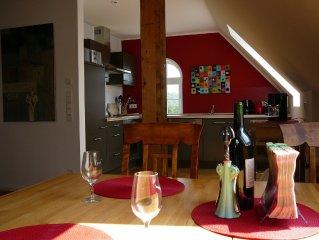 Spacious apartment near a nature reserve and metropolis of Westphalian