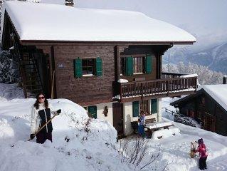gemütliche Chalet-Wohnung in ruhiger Lage, 3 1/2 Zimmer, familienfreundlich