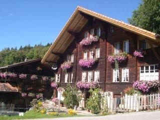 3 1/2 Dachwohnung mit  Blick auf die Wetterhorngruppe im Wander und Skigebiet