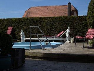 Romantisches altes Forsthaus mit Sommerpool nahe Rothenburg ob der Tauber