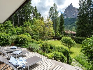 Beautiful villa at the foot of the Sciliar in the Dolomites