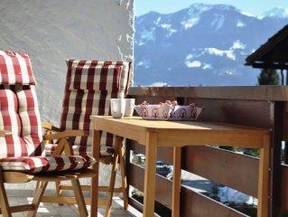 Modern-gemutliche Wohnung im Alpstyle mit Sudbalkon