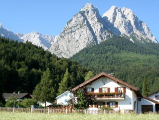 Zugspitze, Garmisch- Partenkirchen, Grainau, FeWo  Hunde erlaubt, Terrasse,