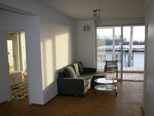 Modern, bright 4 bedroom apartment in the eco-house with huge balconies.