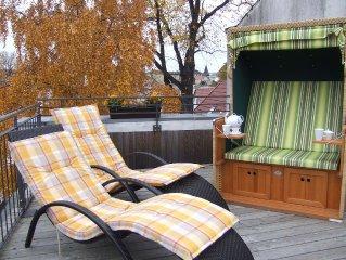 komfortable 4- Sterne- Dachterrassenwohnung, ruhig und zentral