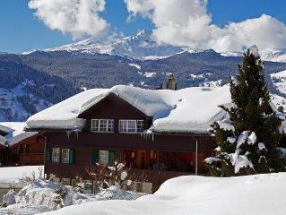 Mitten im Zentrum von Grindelwald, moderne, grosse Parterrewohnung