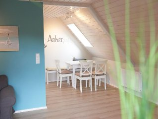 new and stylish apartment on Wittensee 100m, to the beach, near the Baltic Sea