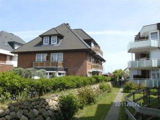 SYLT/Westerland, moderne 2-ZI-WOHNUNG + WLAN, strand-und zentrumsnah, 2 BALKONE