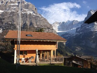 detached chalet with panoramic views of the famous Eiger North Wall