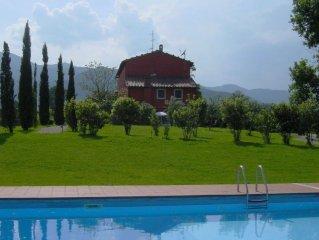 Traumhafte Wohnung in restauriertem Bauernhaus mit Pool u. Panorama