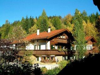 Komfortable, liebevoll eingerichtete FeWo mit herrlichem Bergblick am Waldesrand