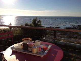 PENERF-VILLA FACING THE MER- Morbihan - 8/10 - direct access to the beach