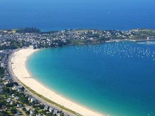 Longère spacieuse vue mer à St-Cast-le-Guildo,proche St Malo et Dinard