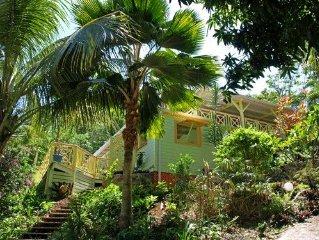 Green House, location villa a Deshaies en Guadeloupe