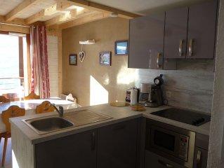 Appartement 8 personnes  64 m2 2 chambres 2 salles de bains cote piste expo sud