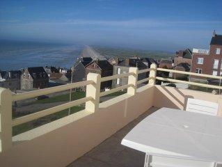 Appartement avec vue panoramique sur les falaises et le Hable d'AULT