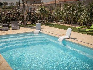 Villa avec PISCINE PRIVATIVE  a 5 minutes du bord de mer