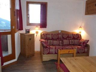 Appartement a Vallandry au pied du Paradiski. Domaine skiable des Arcs/La Plagne
