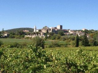 Gard-Cevennes,maison 8 pers:tout confort piscine privee chauffee