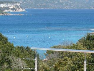 Villa contemporaine vue mer exceptionnelle sur la baie de Sant'Amanza Bonifacio