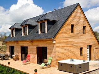 CHALET 136 m² -  4 *  -  8 personnes - vue exceptionnelle sur le massif du Sancy