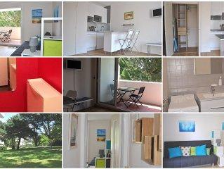 Spacious studio, comfortable: a balcony terrace o
