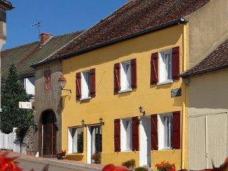 Grand gite original, 14 places en Bourgogne du sud