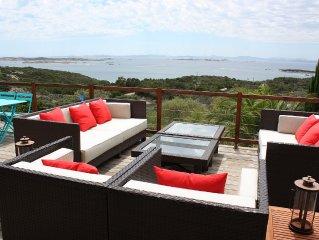 Villa Bonifacio avec vue imprenable sur la mer et les îles