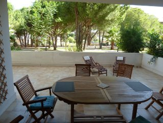 63 m2 + 44 m2 terrace, 200 meters from the beach, with pool