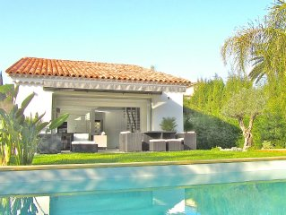 Villa avec piscine , a 3km & 6mn de Cannes Croisette, plages & FILM FESTIVAL