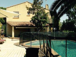 Superbe villa mediterranee ,Vue Mer, Tout Confort,Piscine et JardinPrivee Wifi