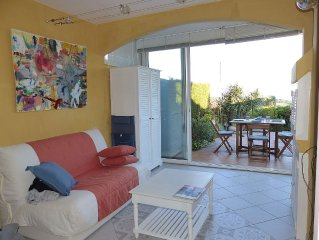 NEW! Cross Valmer near St Tropez, apartment with garden, 4 pers, SEA VIEW