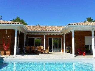 villa bois Cap Ferret, 8 personnes