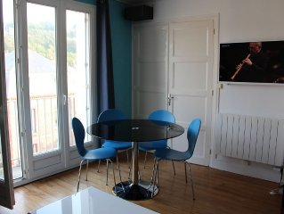 Appartement 40 m2, grand confort, expo sud, Le Treport plein centre et plage