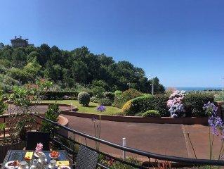 T2 apartment ocean view, limit Biarritz, Ilbarritz beach and golf 5 mins walk