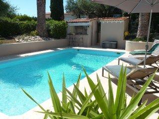 Tres belle Villa- standing - piscine chauffee - 100 metres de la plage