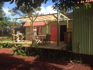Ancienne  Case créole dans un jardin arboré à 5 minutes baie Manapany
