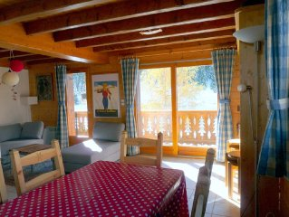 DUPLEX APARTMENT CHAMPAGNY UP TO 6 PEOPLE BEAUTIFUL CALM SITE